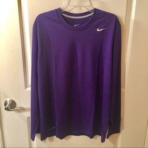 Nike Dri-Fit Long Sleeve Purple T-Shirt Size L
